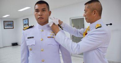 ผบ.กยพ.กร. เป็นประธานในพิธีประดับยศนายทหารสัญญาบัตร สังกัด กยพ.กร.
