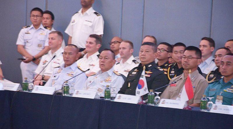 ผบ.กยพ.กร. ในฐานะ ผอ.กฝ.คอบร้าโกลด์ 19 ระดับ ทร.และ ผบ.กกล.ทร.ผสม พร้อมกำลังพล ร่วมพิธีปิดการประชุม IPC CG20