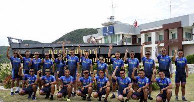 """นักไตรกีฬาของกองเรือยกพลขึ้นบกและยุทธบริการ เตรียมความพร้อมเข้าร่วมการแข่งขันไตรกีฬานาวี ซีซัน ๒ สนาม ๔ """"ทหารเรือไทย เทิดไท้องค์มหาราชามหาราชินีชั่วนิรันดร์"""""""