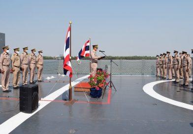 ผบ.กยพ.กร. พร้อมคณะนายทหารฝ่ายอำนวยการ เดินทางไปตรวจเยี่ยม และกล่าวให้โอวาท กับกำลังพลของเรือสังกัด กยพ.กร.